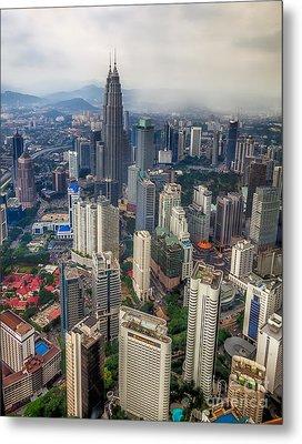 Kuala Lumpur City Metal Print by Adrian Evans