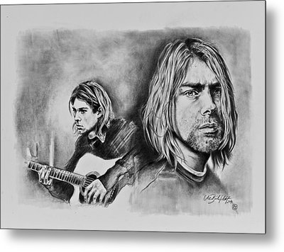 Kurt Cobain Metal Print by Art Imago