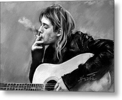 Kurt Cobain Guitar  Metal Print by Viola El