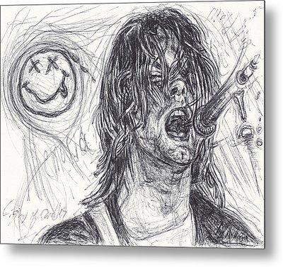 Kurt Cobain Metal Print by Michael Morgan