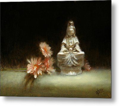 Kwan Yin Metal Print by Christy Olsen
