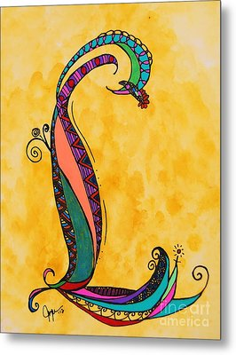 'l' Monogram Metal Print by Joyce Auteri