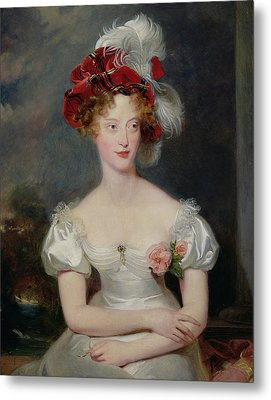 La Duchesse De Berry 1798-1870 C.1825 Oil On Canvas Metal Print by Sir Thomas Lawrence