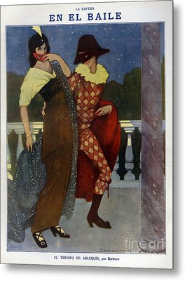 La Esfera 1910s Spain Cc Harlequins Metal Print by The Advertising Archives