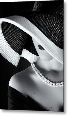 La Femme Au Chapeau Metal Print by Ruslan Bolgov (axe)