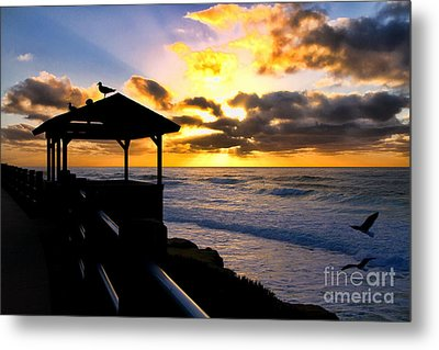 La Jolla At Sunset By Diana Sainz Metal Print by Diana Sainz