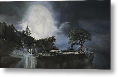 La Luna Bianca Metal Print by Guido Borelli