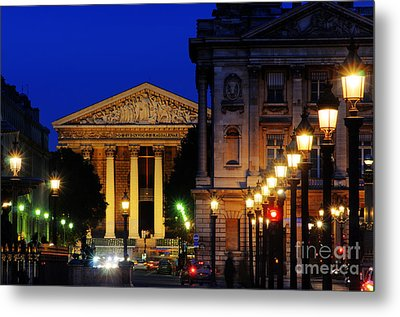 La Madeleine At Night Metal Print by Colin Woods