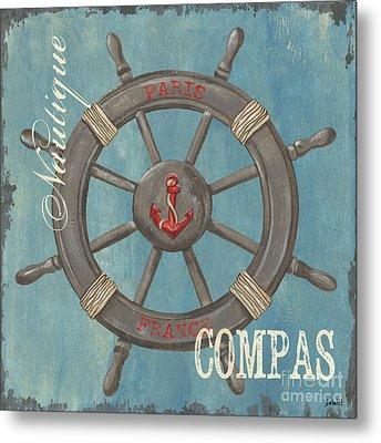 La Mer Compas Metal Print by Debbie DeWitt