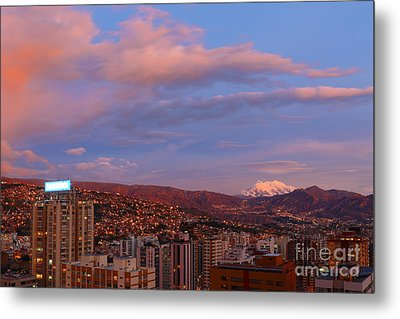 La Paz Twilight Metal Print by James Brunker