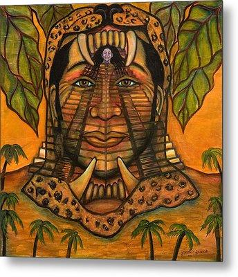 La Reina De Los Jaguares Metal Print by Yovannah Diovanti