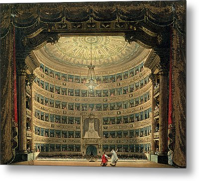 La Scala, Milan, During A Performance Metal Print by Italian School