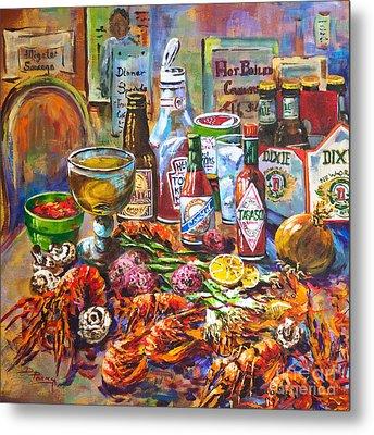 La Table De Fruits De Mer Metal Print by Dianne Parks