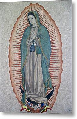 La Virgen De Guadalupe Metal Print by Lynet McDonald