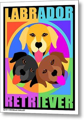 Labrador Retrievers Metal Print by Michelle Guillot