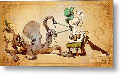 Lacing Up Metal Print by Brian Kesinger