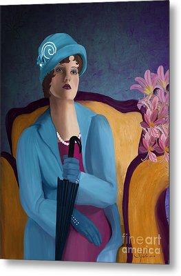Lady Blue Metal Print by Sydne Archambault