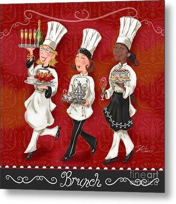 Lady Chefs - Brunch Metal Print by Shari Warren