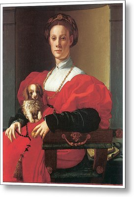 Lady In A Red Dress Metal Print by Jacopo Pontormo