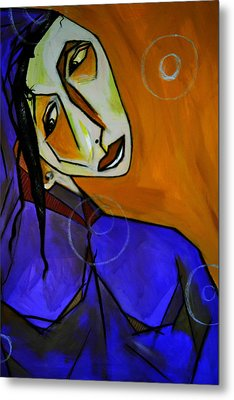 Lady In Blue Metal Print by Robert Daniels