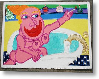 Lady In The Tub Metal Print by Matthew Brzostoski