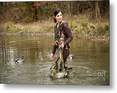 Lady In The Water Metal Print by Suzi Nelson