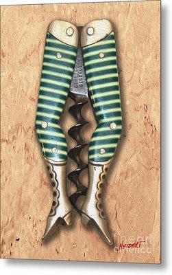 Lady Legs Corkscrew Painting Metal Print by Jon Neidert