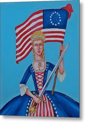 Lady Liberty Metal Print by Beth Clark-McDonal