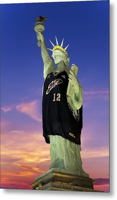 Lady Liberty Dressed Up For The Nba All Star Game Metal Print by Susan Candelario
