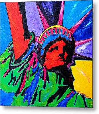 Lady Liberty Metal Print by Patti Schermerhorn