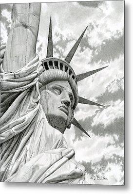 Lady Liberty  Metal Print by Sarah Batalka