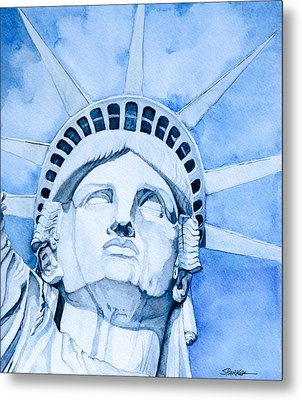 Lady Liberty Metal Print by Scott  Parker