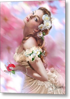 Lady Of The Camellias Metal Print by Drazenka Kimpel