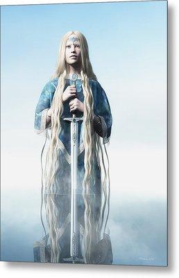 Lady Of The Lake Metal Print by Melissa Krauss