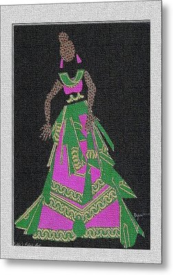 Lady Singer Metal Print by Ruth Yvonne Ash