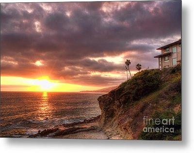 Laguna Beach Sunset Metal Print by Eddie Yerkish