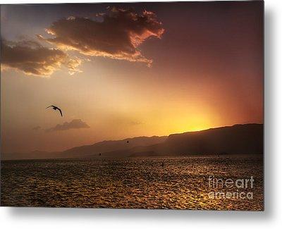 Lake Mead Sunrise Metal Print by Robert Bales