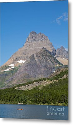 Lake Sherburne In Glacier National Park Metal Print by Natural Focal Point Photography