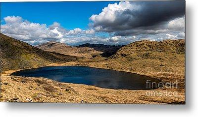 Lake Teyrn Snowdonia Metal Print by Adrian Evans