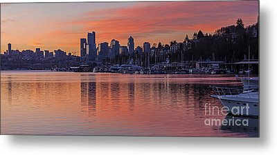 Lake Union Dawn Metal Print by Mike Reid