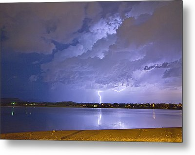 Lake View Lightning Thunderstorm Metal Print by James BO  Insogna