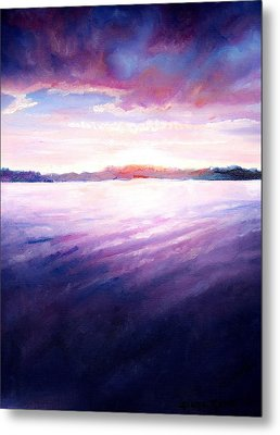 Lakeside Sunset Metal Print by Shana Rowe Jackson