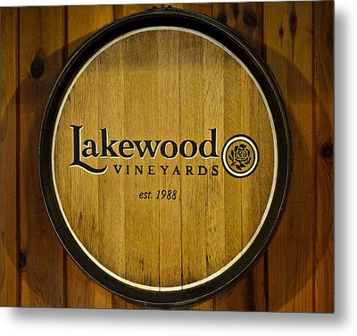 Lakewood Vineyards Metal Print by Frozen in Time Fine Art Photography