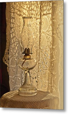 Lamp By The Window Metal Print by Lena Wilhite
