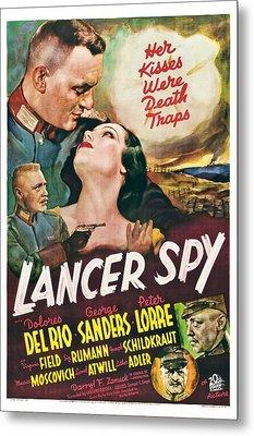 Lancer Spy, George Sanders, Dolores Del Metal Print by Everett