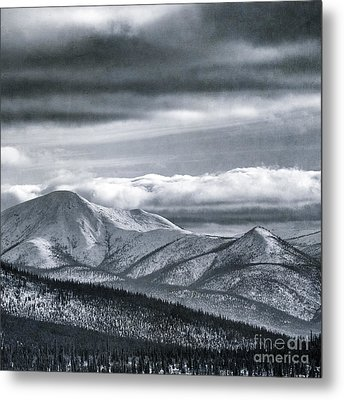 Land Shapes 4 Metal Print by Priska Wettstein