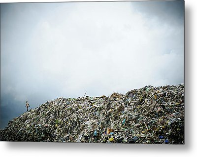 Landfill Metal Print by Matthew Oldfield