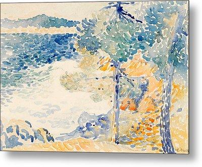 Landscape. Saint Clair Metal Print by Henri-Edmond Cross