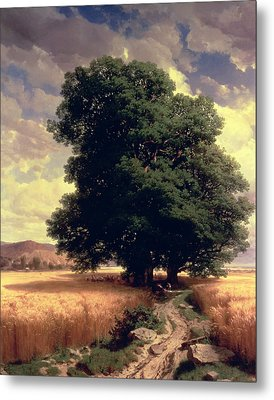 Landscape With Oaks Metal Print by Alexandre Calame