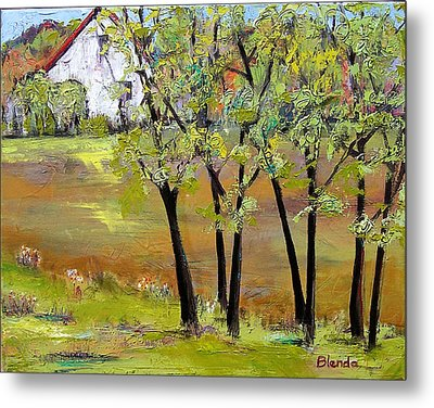 Landscapes Art - Hill House Metal Print by Blenda Studio